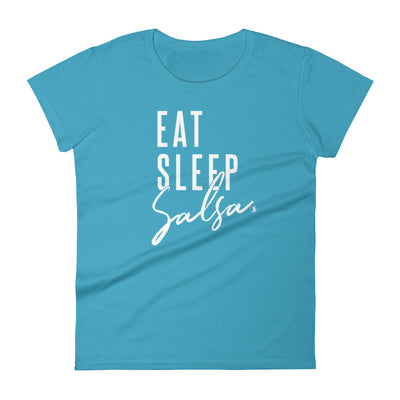 """Eat Sleep Salsa"" Ladies Tee"