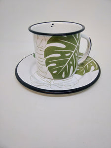 Coffee Mug, Green Monstera by Malte Taller - apluckygirl