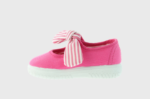 Mary Jane Sandals with a floppy bow for Kids - Fuscia - apluckygirl