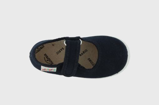 Mary Jane Velcro Canvas Sandals for children - Marino - apluckygirl