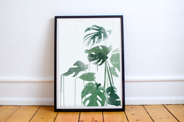 Monstera - Fashion illustration - apluckygirl