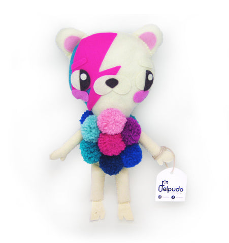 Cute bowie stuffed bear - apluckygirl