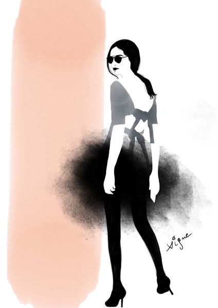 Woman in Tul - Fashion illustration - apluckygirl