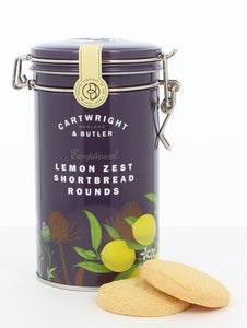 CARTWRIGHT & BUTLER Lemon Zest Shortbread Rounds Tin 200g
