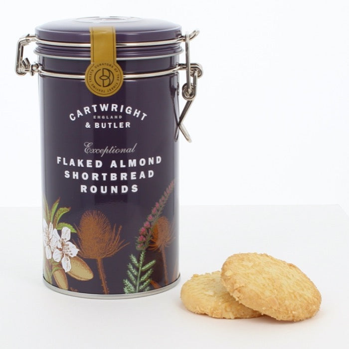 CARTWRIGHT & BUTLER Flaked Almond Shortbread Rounds Tin 200g