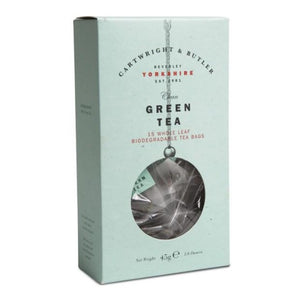 CARTWRIGHT & BUTLER Green Tea Whole Leaf Tea Bags Carton 45g