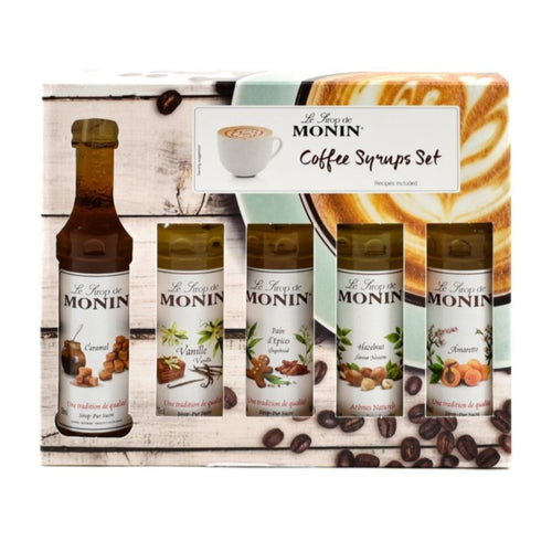 MONIN Coffee Syrup Set 5 x 50ml