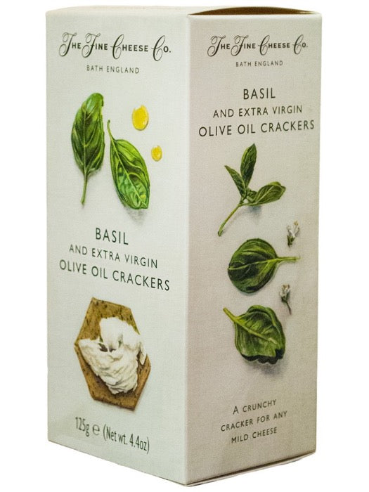 THE FINE CHEESE CO. Basil & Extra Virgin Olive Oil Crackers 125gr