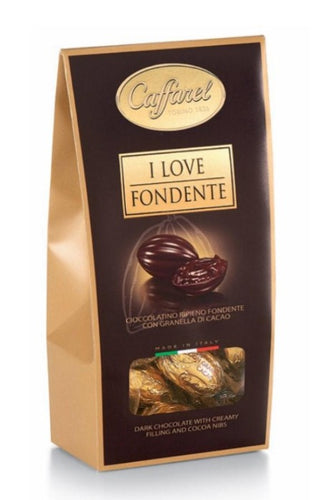 CAFFAREL Dark Chocolate window ballotin 110gr