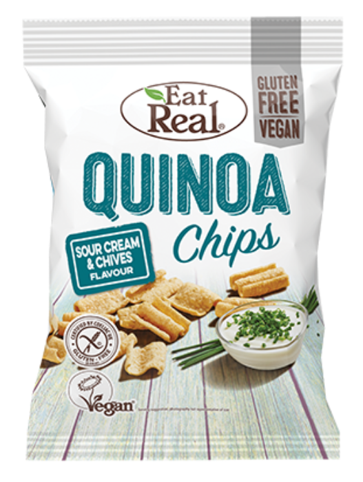 EAT REAL Sour Cream & Chive Quinoa Chips 30g