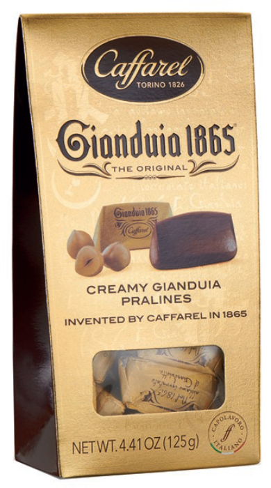 CAFFAREL Gianduia Golden window ballotin 125gr