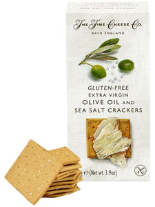 THE FINE CHEESE CO. Gluten Free Extra Virgin Olive Oil & Sea Salt Crackers 125gr