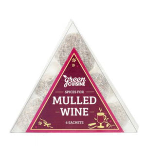 GREEN CUISINE Triangle Box of Mulled Wine Pouchettes 25g