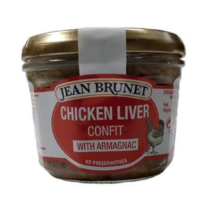 JEAN BRUNET Chicken Liver Confit with Armagnac 180g