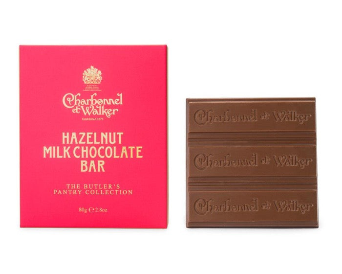 CHARBONNEL ET WALKER Hazelnut Milk Chocolate Butler Bar 80g