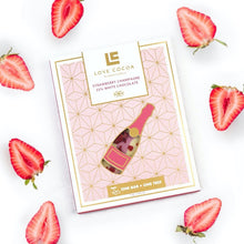 LOVE COCOA Strawberry Champagne White Chocolate Bar 75g