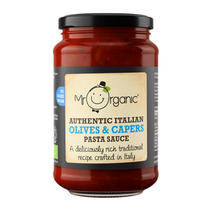 MR ORGANIC No Added Sugar Authentic Italian Olives and Capers Pasta Sauce 350g