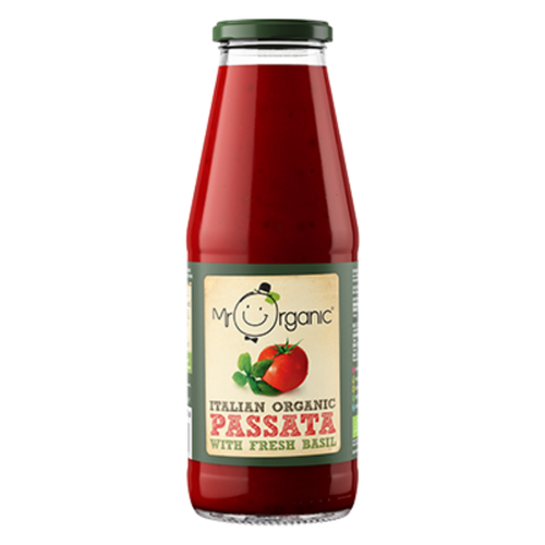 MR ORGANIC Italian Organic Passata With Fresh Basil 690g