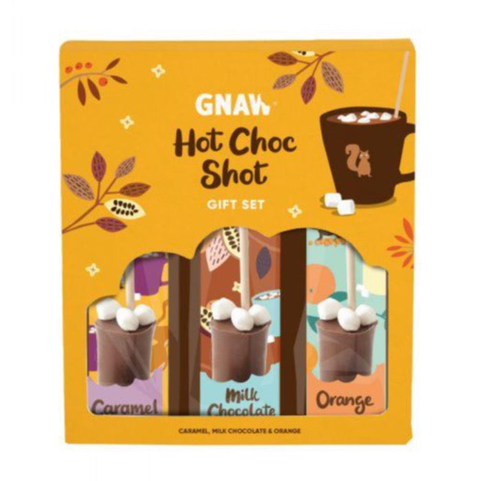 GNAW CHOCOLATE Gnaw Variety Hot Choc Shot Gift Set 150g