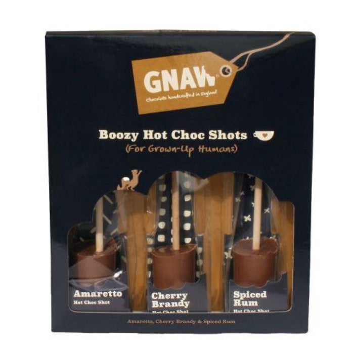 GNAW CHOCOLATE Gnaw Liqueur Flavoured Hot Shot Gift Set 150g