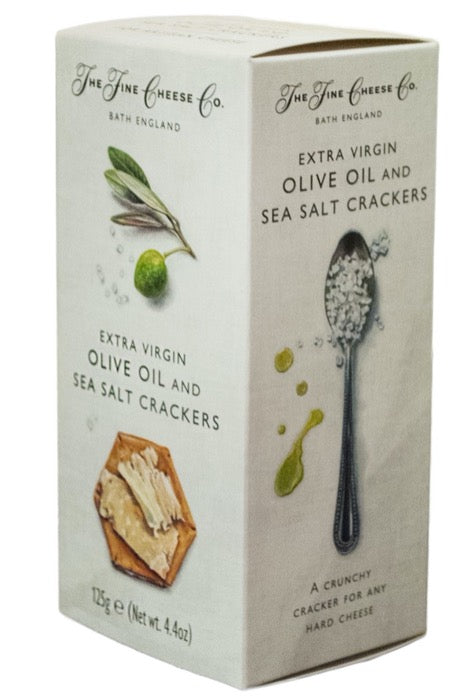 THE FINE CHEESE CO. Extra Virgin Olive Oil & Sea Salt Crackers 125gr