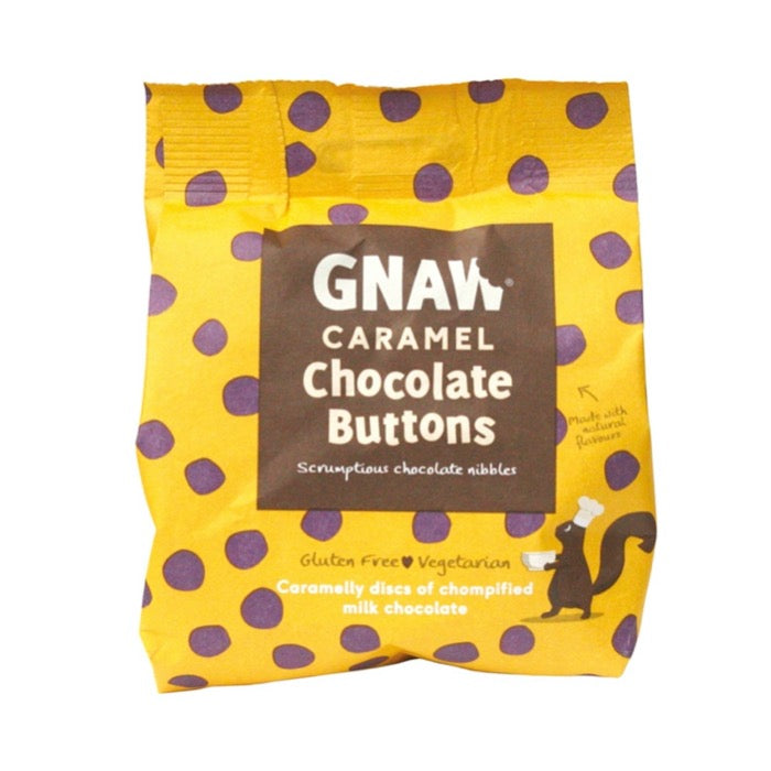 GNAW Caramel Chocolate Buttons 150g