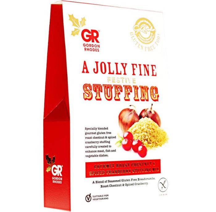 GORDON RHODES Festive GF Gourmet Roast Chestnut & Spiced Cranberry Stuffing Mix 125g