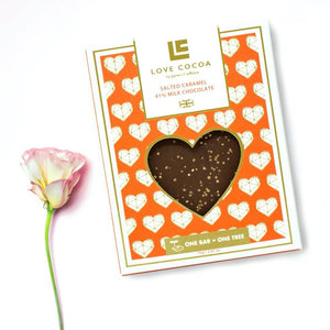 LOVE COCOA Love Salted Caramel Milk Chocolate Bar 75g
