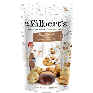 MR FILBERT'S Christmas Chestnut & Chive Peanuts and Hazelnuts 190g