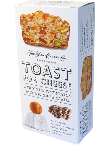 THE FINE CHEESE CO. Apricots, Pistachios & Sunflower Seeds Toast for Cheese 100gr