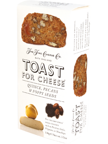 THE FINE CHEESE CO. Quince, Pecans & Poppy Seeds Toast for Cheese 100gr