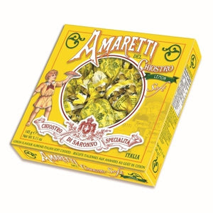 DEL CHIOSTRO Soft Lemon Amaretti Window Box 145g