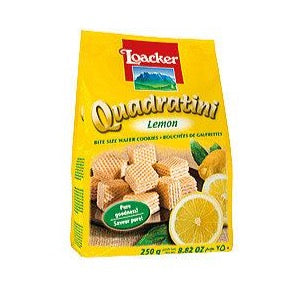 LOACKER Quadratini Wafer Lemon 250gr