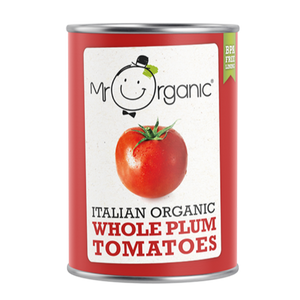 MR ORGANIC Italian Organic Whole Plum Tomatoes 400gr