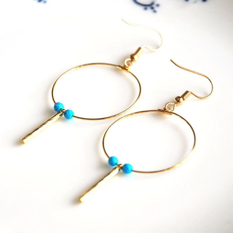 Gold Plated Handmade Dangle Earrings