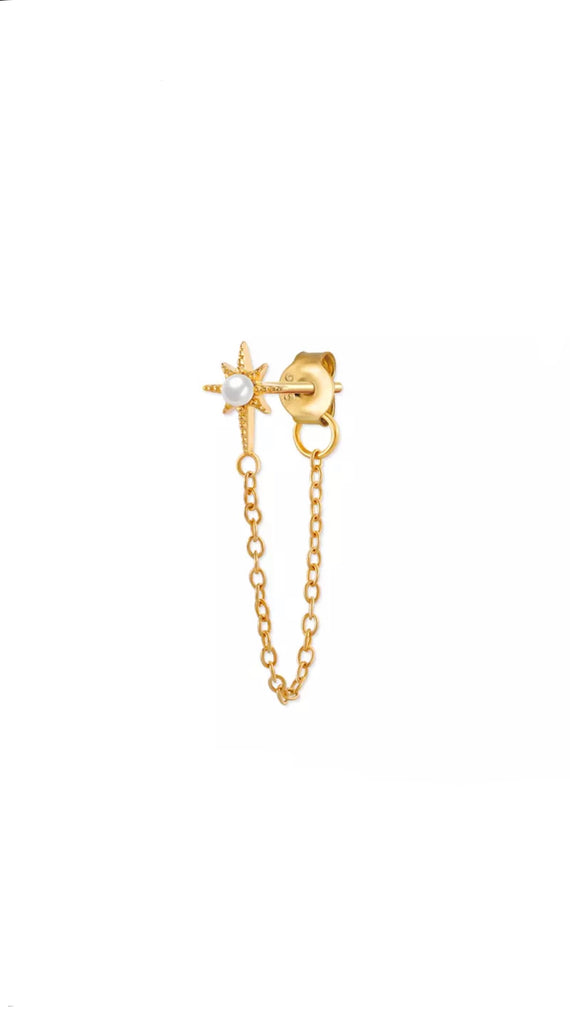 Star Chain Drop Earring