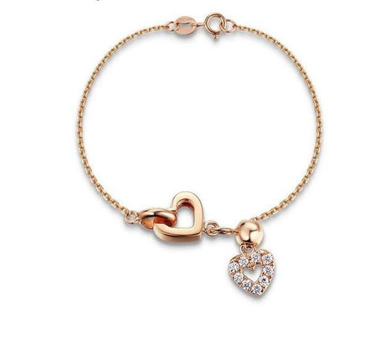 Heart Bracelet Rose Gold