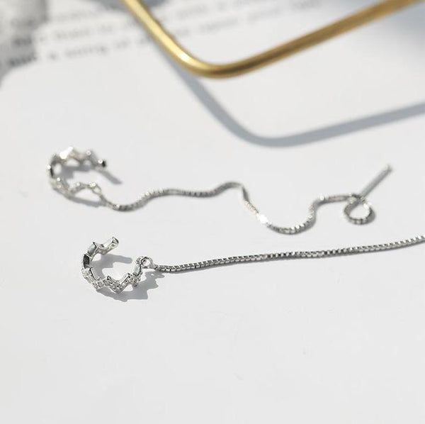 Sterling Silver Drop Crystal Earrings