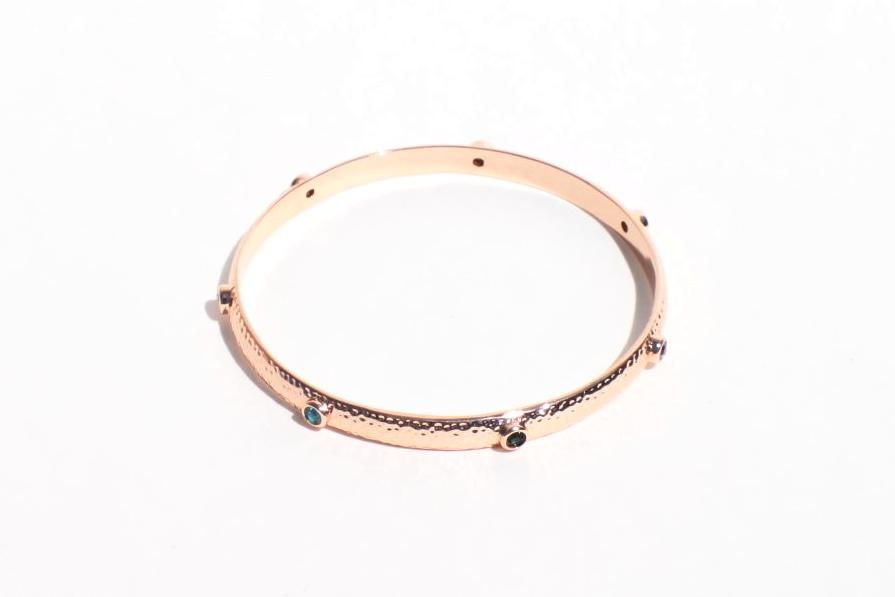 Rose Gold Plated Bangle Bracelet  With Austrian Crystals