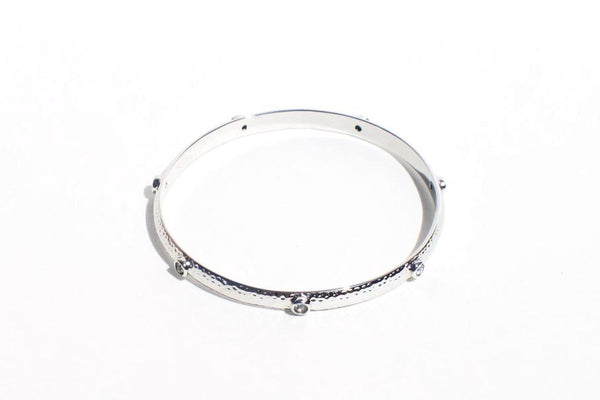 White Gold Plated Bangle Bracelet