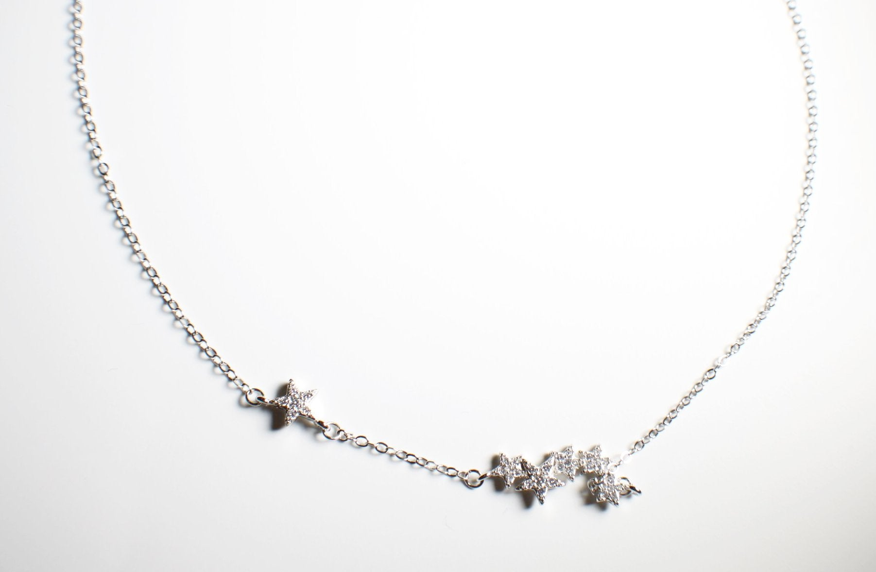 Sterling Silver Crystal Star Necklace
