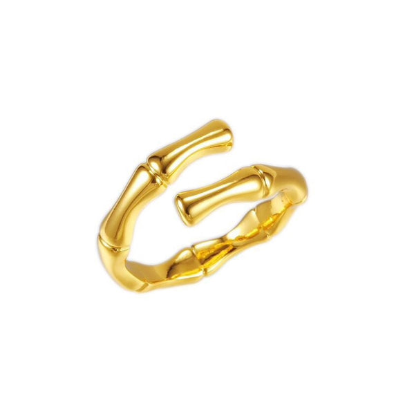 Bamboo Knot 24K Gold Plated Ring