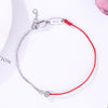 Red Thread Silver Zirconia Bracelet