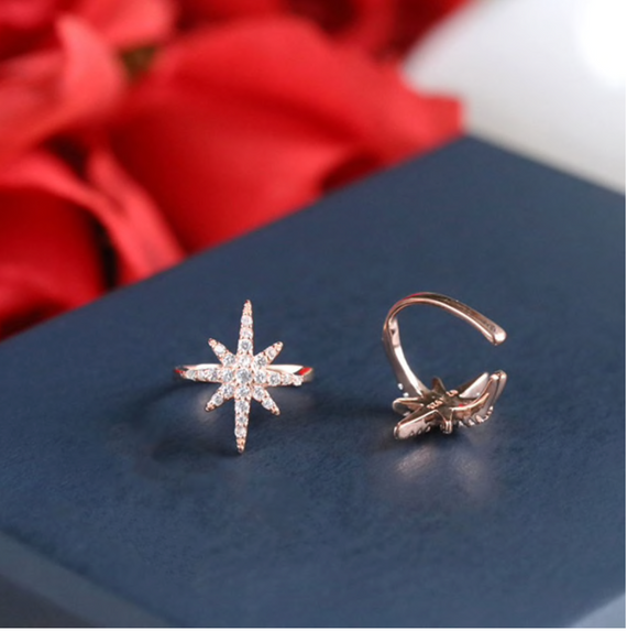 Rose Gold Plated Star Ear Cuff