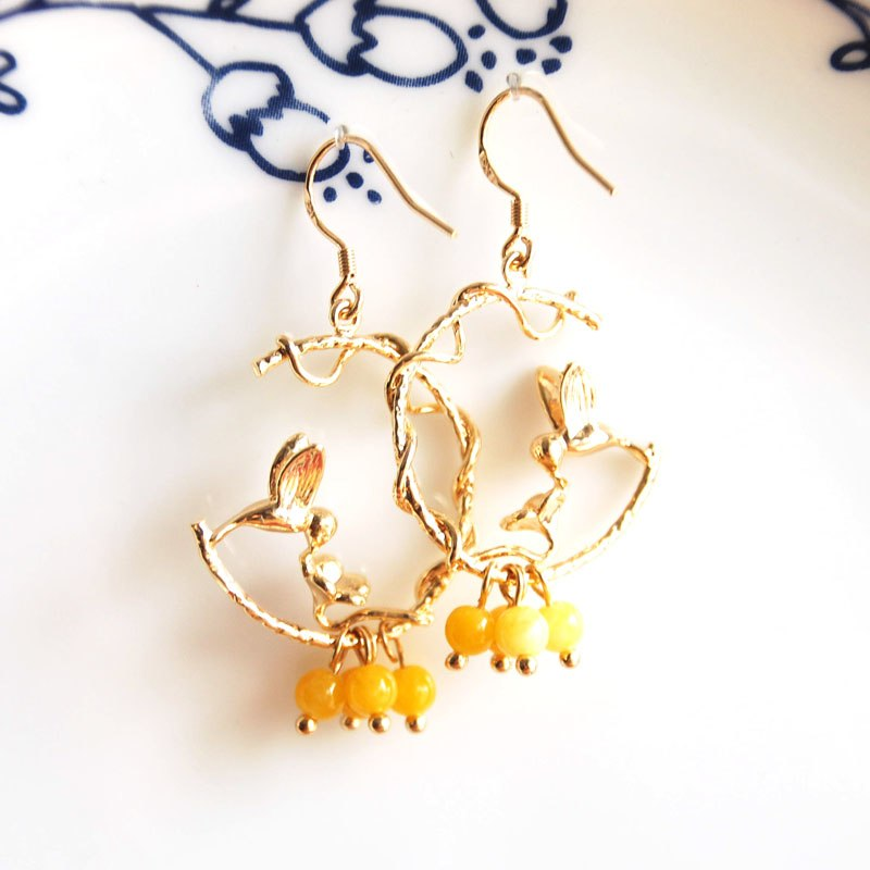Gold Plated Handmade Earrings