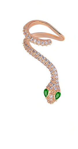 Rose Gold Plated Snake Earring