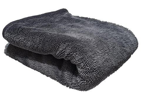Big Twisted Pile Grey Drying Towel 74 x 90cm