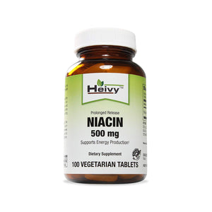 Heivy Niacin tablets product bottle