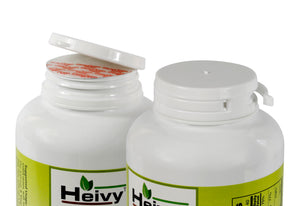 Two bottles of Heivy Cal Mag Zinc With D3 Softgels, one opened