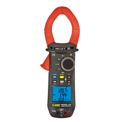 AEMC Model 407 Clamp-On Meter